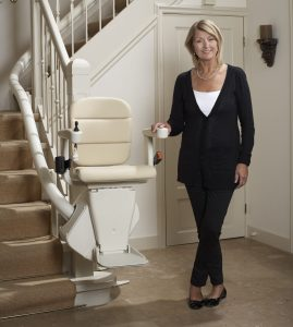 Happy stair lift customer